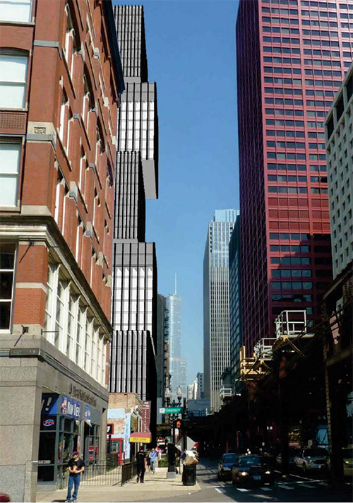 Urban Student Housing High Rise Concept rdham-Congress-Wabash-Avenue-View